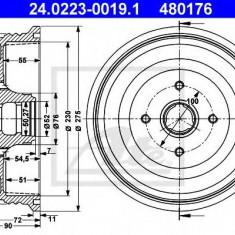 Tambur frana VW CADDY Mk II 60 1.4 - ATE 24.0223-0019.1 - Saboti frana auto