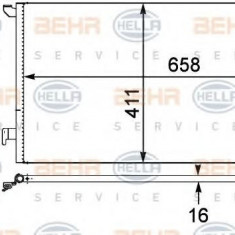 Condensator, climatizare OPEL VECTRA C GTS 2.0 16V Turbo - HELLA 8FC 351 302-531 - Radiator aer conditionat