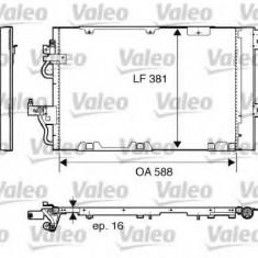 Condensator, climatizare VAUXHALL ZAFIRA Mk II 1.6 CNG Turbo - VALEO 818114 - Radiator aer conditionat