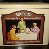 Cutie veche de cafea cu reclama Eduard Schopf EDUSCHO