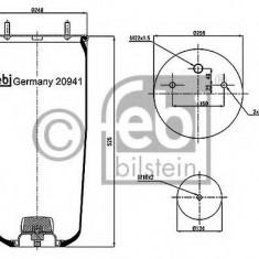 Burduf, suspensie pneumatica - FEBI BILSTEIN 20941