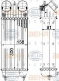 Intercooler, compresor PEUGEOT 207 1.6 16V Turbo - HELLA 8ML 376 756-741