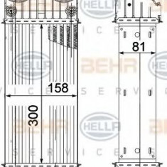 Intercooler, compresor PEUGEOT 207 1.6 16V Turbo - HELLA 8ML 376 756-741 - Intercooler turbo