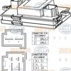 Reglaj, suflanta de interior BMW 7 limuzina Active Hybrid 7 - HELLA 5HL 351 321-541 - Motor Ventilator Incalzire