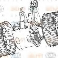 Ventilator, habitaclu BMW 5 limuzina 520 i - HELLA 8EW 351 040-651 - Motor Ventilator Incalzire