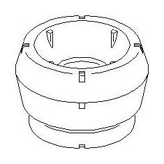 Rulment sarcina suport arc SEAT IBIZA V 1.2 - TOPRAN 108 241 - Rulment amortizor