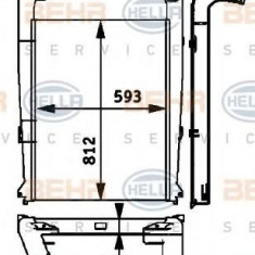Intercooler, compresor RENAULT TRUCKS Premium Route 420.18T - HELLA 8ML 376 724-241 - Intercooler turbo