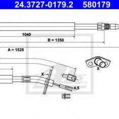 Cablu, frana de parcare VW LT Mk II bus 2.3 - ATE 24.3727-0179.2