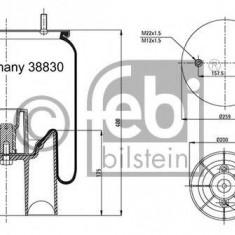 Burduf, suspensie pneumatica - FEBI BILSTEIN 38830