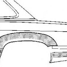 Panou lateral MERCEDES-BENZ SL 280 SL - VAN WEZEL 3008145 - Panou usi auto