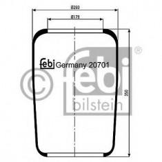 Burduf, suspensie pneumatica - FEBI BILSTEIN 20701