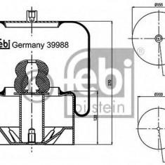 Burduf, suspensie pneumatica - FEBI BILSTEIN 39988