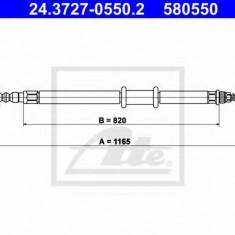 Cablu, frana de parcare FIAT MULTIPLA 1.6 100 16V - ATE 24.3727-0550.2