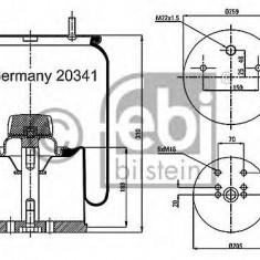 Burduf, suspensie pneumatica - FEBI BILSTEIN 20341