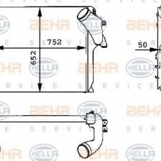 Intercooler, compresor MERCEDES-BENZ ACTROS 1831, 1831 L - HELLA 8ML 376 723-721 - Intercooler turbo