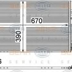 Condensator, climatizare MERCEDES-BENZ VITO / MIXTO caroserie 122 CDI - HELLA 8FC 351 343-001 - Radiator aer conditionat