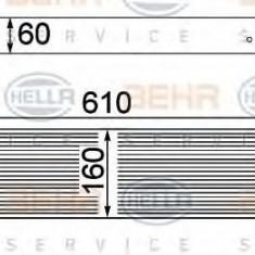 Intercooler, compresor NISSAN DUALIS 1.6 dCi tractiune integrala - HELLA 8ML 376 762-201 - Intercooler turbo