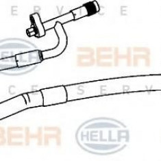 Conducta presiune variabila, aer conditionat FORD FIESTA VI 1.4 TDCi - HELLA 9GS 351 338-401 - Furtunuri aer conditionat auto