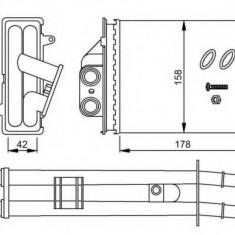 Schimbator caldura, incalzire habitaclu FIAT PANDA 1.2 - NRF 53641 - Sistem Incalzire Auto