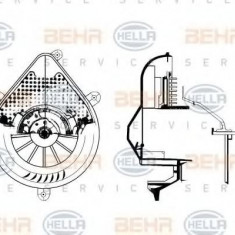 Ventilator, habitaclu PEUGEOT 306 hatchback 1.9 D - HELLA 8EW 009 159-681 - Motor Ventilator Incalzire