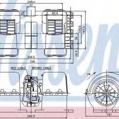 Ventilator, habitaclu MAN TGA 41.660 FVDS, FVDLS - NISSENS 87133 - Motor Ventilator Incalzire
