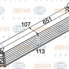 Intercooler, compresor RENAULT LAGUNA cupe 3.0 dCi - HELLA 8ML 376 745-731 - Intercooler turbo