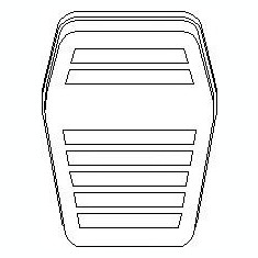 Acoperire pedala, pedala frana FORD SCORPIO Mk II 2.0 i - TOPRAN 302 747