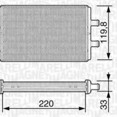 Schimbator caldura, incalzire habitaclu - MAGNETI MARELLI 350218226000 - Sistem Incalzire Auto