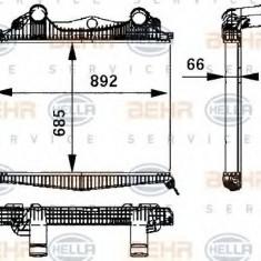 Intercooler, compresor MAN TGA 18.410, 18.420 FC, FRC, FLC, FLRC, FLLC, FLLW, FLLRC, FLLRW - HELLA 8ML 376 724-211 - Intercooler turbo