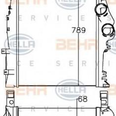 Intercooler, compresor MERCEDES-BENZ ATEGO 815, 815 L - HELLA 8ML 376 758-151 - Intercooler turbo