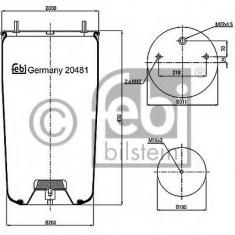 Burduf, suspensie pneumatica - FEBI BILSTEIN 20481