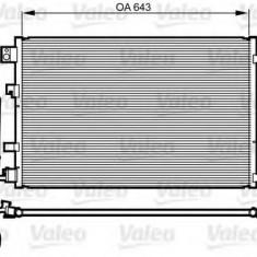 Condensator, climatizare NISSAN DUALIS 2.0 - VALEO 814008 - Radiator aer conditionat