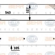 Intercooler, compresor BMW 7 limuzina 730 d - HELLA 8ML 376 723-451 - Intercooler turbo