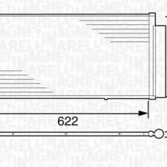 Condensator, climatizare FIAT DOBLO MPV 1.3 D Multijet - MAGNETI MARELLI 350203619000 - Radiator aer conditionat