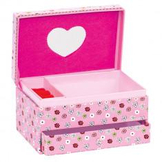 Caseta bijuterii roz cu oglinda Fluturasi - Bino - Jucarii