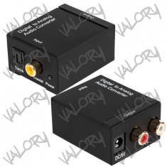 Convertor semnal audio digital la analog ( optic toslink la RCA ) NOU