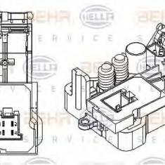 Reglaj, suflanta de interior MAN TGA 18.410, 18.420 FC, FRC, FLC, FLRC, FLLC, FLLW, FLLRC, FLLRW - HELLA 5HL 351 029-061 - Motor Ventilator Incalzire