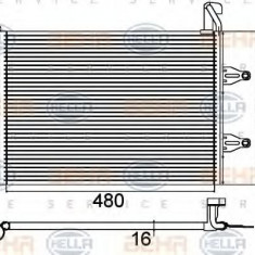 Condensator, climatizare SKODA FABIA 1.4 16V - HELLA 8FC 351 301-531 - Radiator aer conditionat
