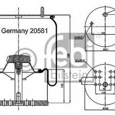 Burduf, suspensie pneumatica - FEBI BILSTEIN 20581