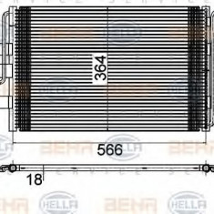 Condensator, climatizare AUDI A3 1.6 - HELLA 8FC 351 036-381 - Radiator aer conditionat