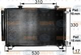 Condensator, climatizare TOYOTA VITZ 1.0 16V - HELLA 8FC 351 300-261