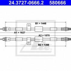 Cablu, frana de parcare FORD KA 1.3 i - ATE 24.3727-0666.2