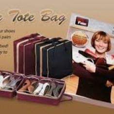 Organizator de pantofi portabil pentru 6 perechi Shoe Tote