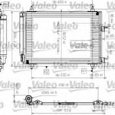 Condensator, climatizare PEUGEOT 307 SW 1.4 16V - VALEO 817524 - Radiator aer conditionat