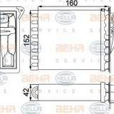 Schimbator caldura, incalzire habitaclu MERCEDES-BENZ SPRINTER 3-t bus 224 - HELLA 8FH 351 313-591