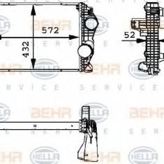 Intercooler, compresor MERCEDES-BENZ ATEGO 712 - HELLA 8ML 376 723-791 - Intercooler turbo