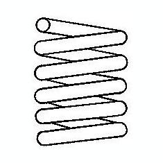 Arc spiral - BOGE 81-278-0 - Arcuri auto Valeo