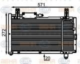 Condensator, climatizare SUZUKI SWIFT Mk II hatchback 1.0 - HELLA 8FC 351 301-001