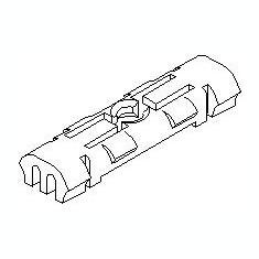 Clips, acoperire decorativa si protectie VW GOLF Mk II 1.3 - TOPRAN 102 900