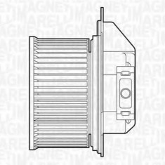 Ventilator, habitaclu LANCIA KAPPA 2.4 20V - MAGNETI MARELLI 069412515010 - Motor Ventilator Incalzire